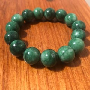 Natural Stone Green 14mm Bracelet